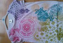 Moje tvoření - malovaná trička