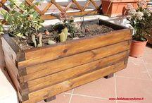 Fioriera legno