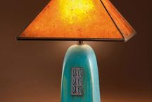 Ceramic lampshades and stands