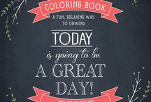 Coloring Books / Adult coloring books. Fun relaxing way to unwind