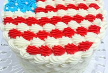 Patriotic Cakes and Sweets / Featuring patriotic cake, cupcake, and dessert designs! These would be perfect for July 4th, Memorial Day, and more.