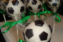 Soccer / Great party ideas to help you throw a fun, colorful, and sweet Soccer party. Featuring decorations, party ideas, dessert tables, party favors , free printables, and more.