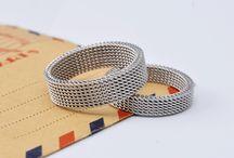 Cincin Couple Titanium Silver