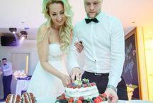 Свадьба в ресторане Black Milk / Фото свадеб в ресторане Black Milk - фуршет, ведущий, оформление зала.