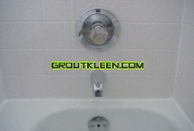 Showers & Tub Surrounds / We clean, restore and caulk shower stalls and tub surrounds.