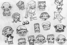Cartoon zombies