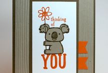 Thinking of You / Make a hand stamped Thinking of you card using Stampin' Up! products. Card making, 3D gifts & inspiration posted at http://StampingMom.com