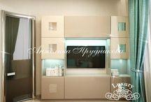 Интерьер квартиры в стиле Модерн на Мосфильмовской 2 / Основными элементами дизайна интерьера квартиры на Мосфильмовской 2 являются мягкие цвета и плавные контуры декора. Подобранная мебель, светильники и люстры создают уютную атмосферу в доме. Спроектированный дизайн в стиле модерн позволяет владельцам квартиры не только жить в красоте, но и в комфорте.