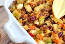 Thanksgiving Sides / Recipes for side options for Thanksgiving Dinners.  Includes potatoes, stuffing, veggies, starch free options and more!