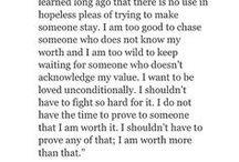 know my worth