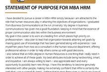 Statement of purpose for MBA ?