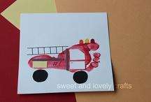 Infant /toddler transportation art