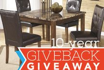 GIVEBACK GIVEAWAYS!!! / As a way of saying thanks to all of Southern Oregon for your business over the last 10 years we are having a 10 month GIVEBACK GIVEAWAY! A GIVEAWAY for each year we have been in business in Southern Oregon! Go to our FaceBook Page to Enter ----> www.facebook.com/CHFurnishingsLLC