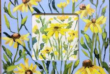 Linda Blondheim's Painted Frames / 8x8 inch original painted frames with acrylics.