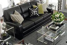 Black couch decor