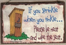 outhouse signs
