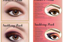 Maquillaje con la paleta Peach.