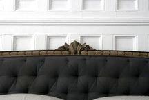 Gray fabrics bed
