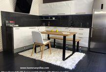 Elurra, mesa en madera de roble y metal de estilo industrial vintage nordico
