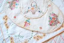 vintage linens and embroidery