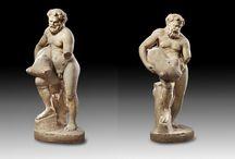 Roman art Marble statuary / Roman Aphrodite marble head - Roman marble herm - Roman janiform herm - Roman marble statue - Roman oscillum