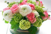 kwiaty na stolach
