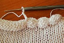 bordure pull etc crochet tricot