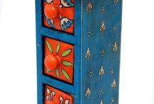 Tall Three Drawer Set ( Multicoloured )