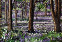 tapestries, embroidery and cross stitching