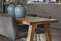 landelijke grote tafels