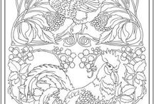 Art Nouveau Coloring pages / discover our coloring pages on the New Art. See more --> http://www.coloring-pages-adults.com/art-nouveau/
