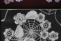 Crochet virágok