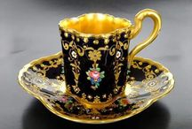 Cups and saucers / Great to admire the many different types. Intended as picture only. Sources not checked