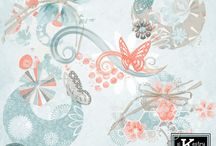 Butterfly Kisses Digital Scrapbooking Collection by Kathryn Estry / Soft, versatile, elegant, feminine, and pretty, Butterfly Kisses has all you'll need for making beautiful everyday pages to scrapping your wedding photos.