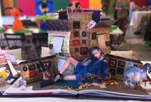 """TABLE AL CONVIVIO for ALCANTARA / BOOK THREE DIMENSIONAL """"Alice nel paese delle meraviglie"""""""
