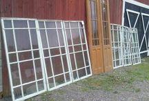Glasveranda och fönster