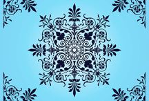 Wall art, Vector & Damask pattern