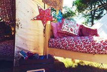 Warren Evans does Festival Season / Check out our beautiful beds in this Moroccan themed Daydream Yurt installation at Camp Bestival 2015.