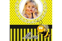Sevimli Arı Doğum Günü Ürünleri / Sevimli Arı Kişiye Özel Parti Mazlemeleri