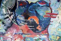 Atsoupé /  Atsoupé n'a pas oublié les couleurs de l'Afrique. Debout, accroupie ou agenouillée, en dansant et en chantant, Atsoupé peint son enfance en couleurs. Bleu outremer et bleu de Prusse, vert mousse et jade, rouge de cadmium, écarlate et pourpre, jaune d'or : qui n'a touché, enfant, aux couleurs du paradis ? Atsoupé, au milieu de ses papiers en couleurs, rayonne de la joie de vivre, enfant.