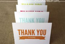 Inspiration: Thank You Cards / by Angela