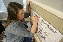 Перенос надписей на изделия из дерева и керамики