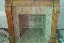 cheminee / fire place briquette chemney