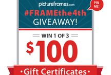 #FRAMEthe4th / Pin our Red, White, and Blue #FRAMEthe4th image for your chance to win 1 of 3 $100 pictureframes.com Gift Certificates.   No purchase necessary. Giveaway ends 7/6/14. See Official Rules for details.  / by pictureframes.com - What Inspires You?