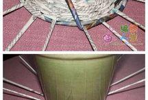 newspaper weawing