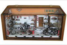 Diorama Oficina Motos Harley Davidson