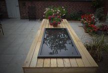 Spejlbassin. / Vand i Haven, spejlbassin giver liv til haven og spejler omgivelserne