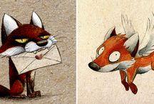 Fox comic/art