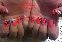 NAIL ART / hand painted nail designs / by Pam Hanik