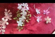 nylon és gyöngy-virág